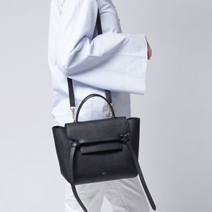 Celine Black Belt Bag